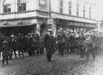 Orchestra of the 2nd Regiment on Kościuszki street in Sanok, 3 May 1923