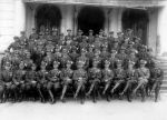 Group of non-commissioned officers and officers along with the commander of the 2nd Regiment