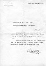 Notification of presenting the Memory Badge of the 2nd Regiment to Matylda Wasylewicz, 21 September 1936