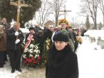 Funeral procession in old part of main cementery in Sanok (8 March 2005).