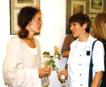 Vernissage of the exhibition of Sanok Artists 2000, On the right Anna Maria Pilszak