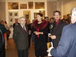 Vernissage of the retrospective exhibition of Zdzisław Beksiński in The National Museum in Gdańsk. The first on the left