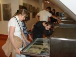 Visitors browsing drawers with the Master's drawings in the attic story, 19 May 2012